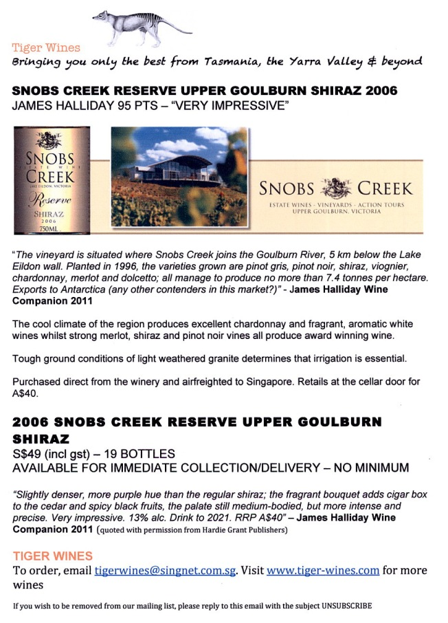 2006 Snobs Creek