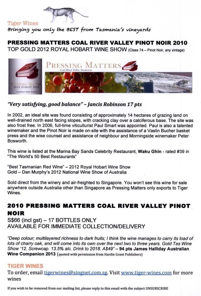 2010 Pressing Matters PN
