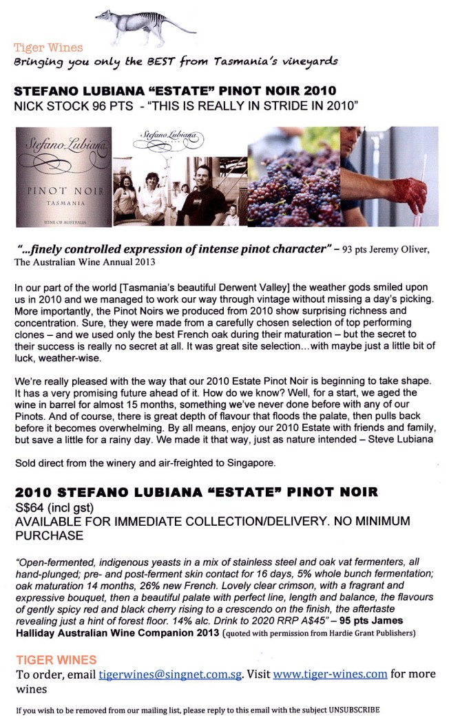 2010 Stefano Lubiana Estate PN