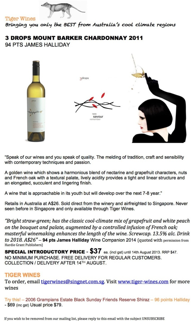 2011 3 Drops Chardonnay