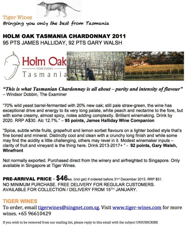 2011 Holm Oak Chardonnay