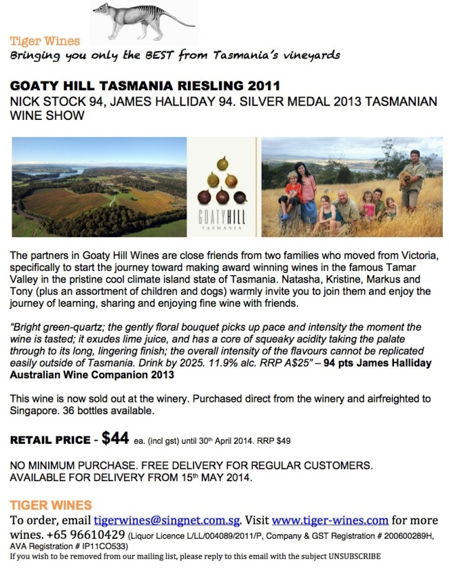 2011 Goaty Hill Riesling