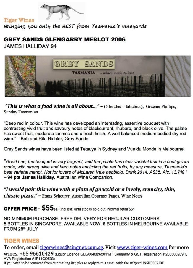 2006 Grey Sands Merlot