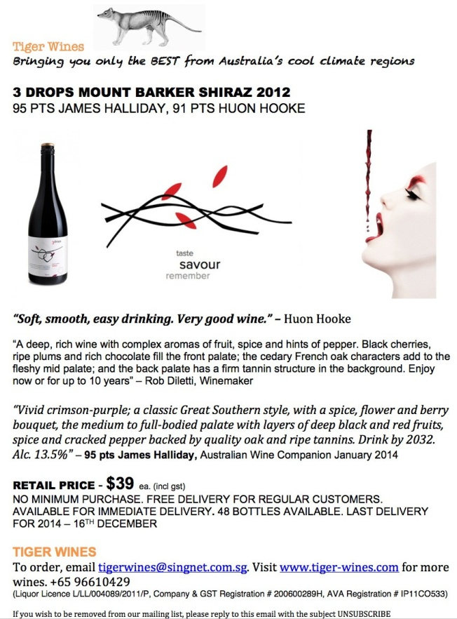 2012 3 Drops Shiraz