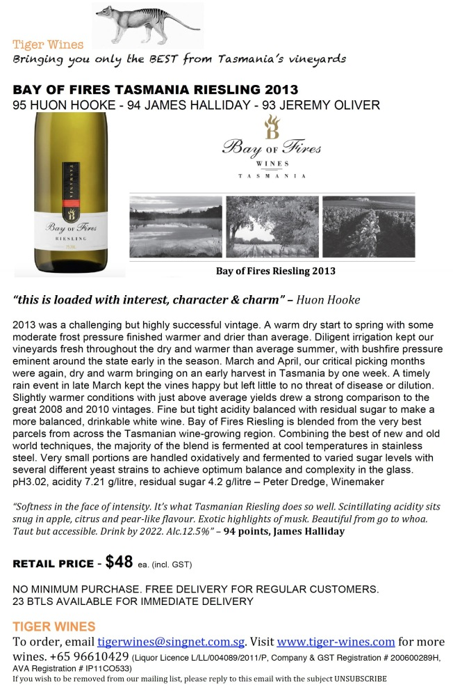 2013 Bay of Fires Riesling