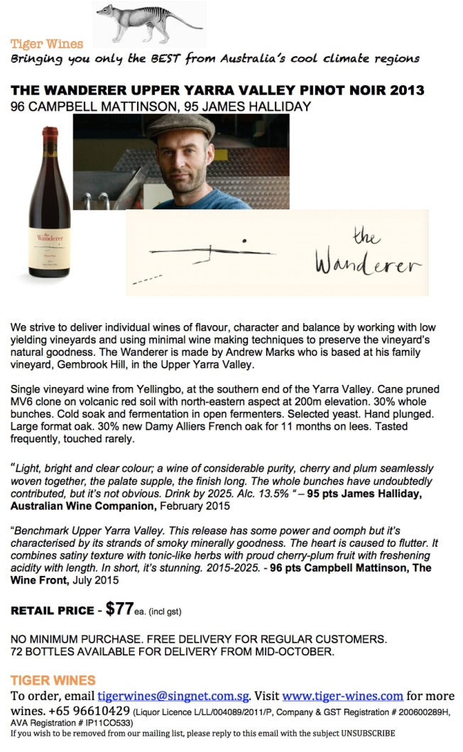 2013 The Wanderer Pinot Noir