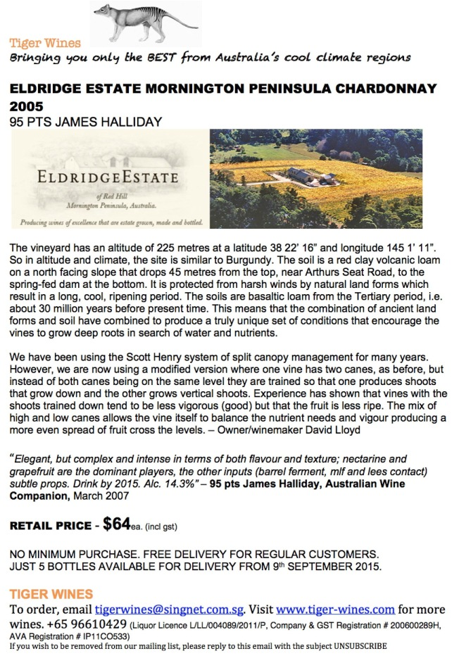 2005 Eldridge Estate Chardonnay