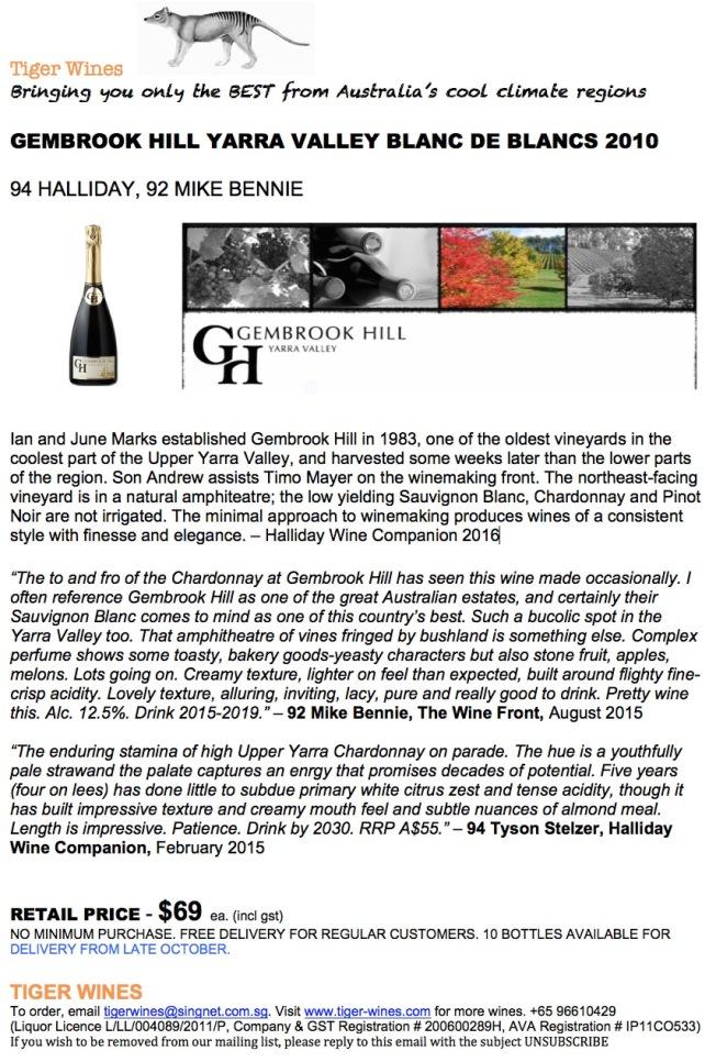 2010 Gembrook Hill Blanc de Blancs