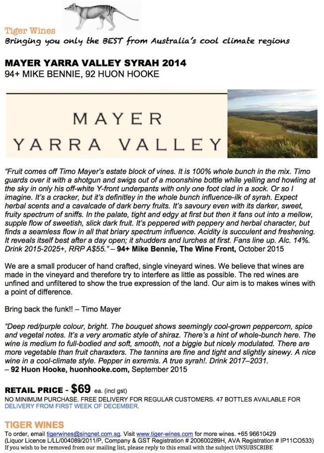 2014 Mayer Syrah