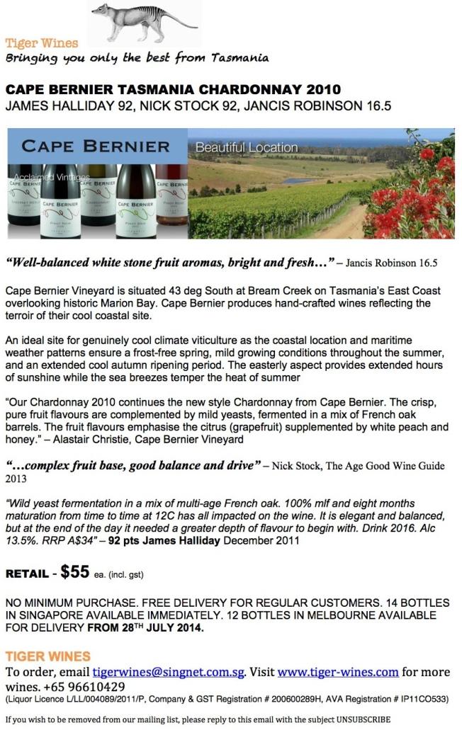 2010 Cape Bernier Chardonnay