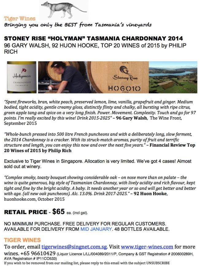 2014 Holyman Chardonnay