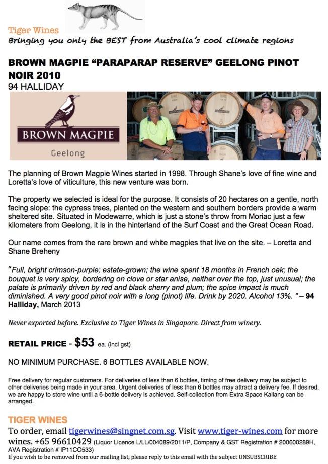 2010 Brown Magpie Paraparap PN