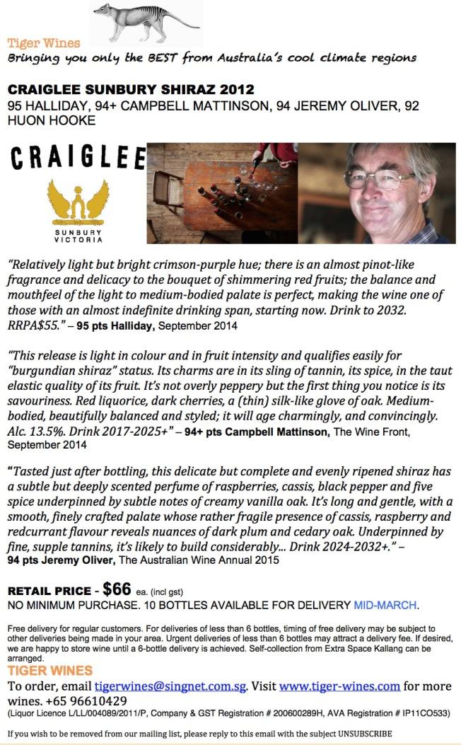 2012 Craiglee Shiraz 2