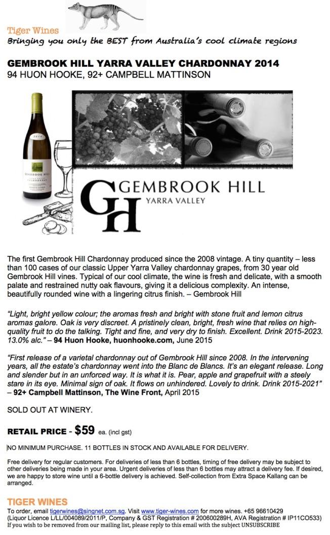 2014 Gembrook Hill Chardonnay