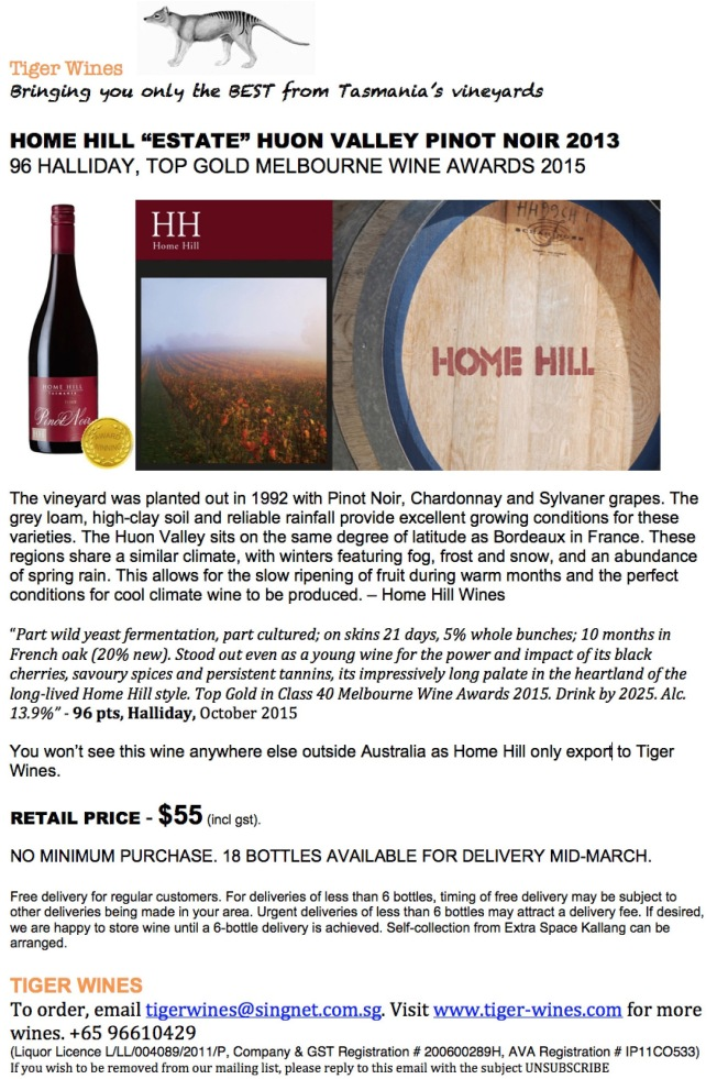 2013 Home Hill Estate PN