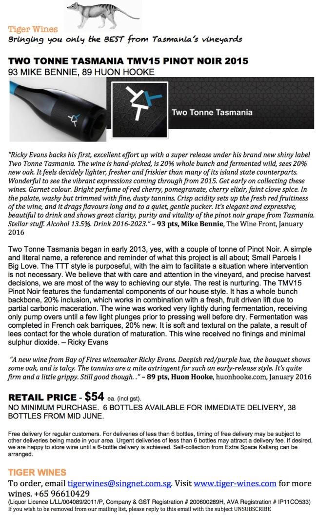 2015 Two Tonne Tasmania TMV